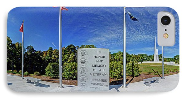 Veterans Freedom Park, Cary Nc. IPhone Case by George Randy Bass