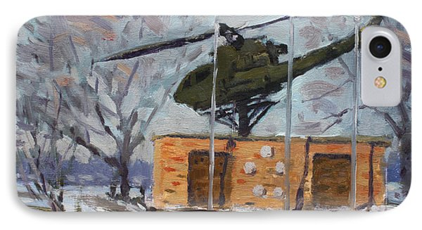 Helicopter iPhone 7 Case - Veterans Memorial Park In Tonawanda by Ylli Haruni