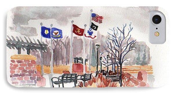 Veteran's Memorial Park Phone Case by Rodger Ellingson