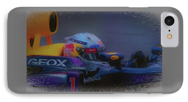 Vettel And Redbull IPhone Case by Marvin Spates