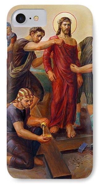 Via Dolorosa - Disrobing Of Christ - 10 Phone Case by Svitozar Nenyuk