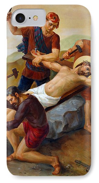 Via Dolorosa - Jesus Is Nailed To The Cross - 11 Phone Case by Svitozar Nenyuk