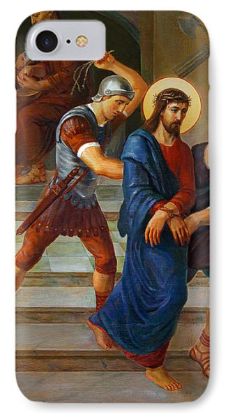 IPhone Case featuring the painting Via Dolorosa - Stations Of The Cross - 1 by Svitozar Nenyuk