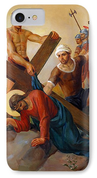Via Dolorosa - The Second Fall Of Jesus - 7 Phone Case by Svitozar Nenyuk