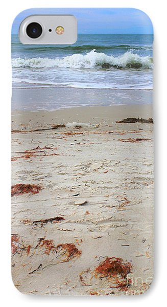 Vibrant Beach With Wave IPhone Case by Jeanne Forsythe