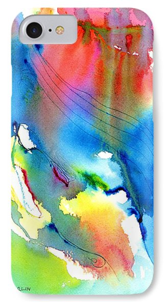 Vibrant Colorful Abstract Watercolor Painting Phone Case by Carlin Blahnik