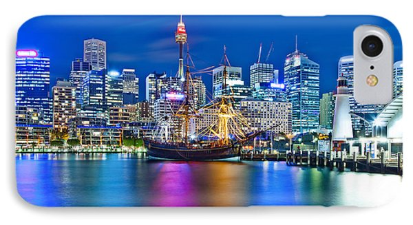 Vibrant Darling Harbour IPhone Case by Az Jackson