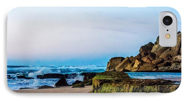 IPhone Case featuring the photograph Vibrant Seascape At Twilight by Marion McCristall