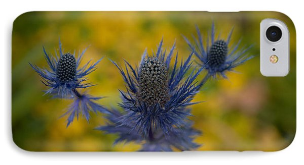 Vibrant Thistles Phone Case by Mike Reid
