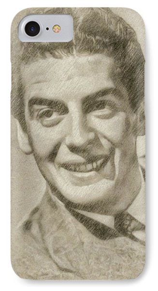 Victor Mature Vintage Hollywood Actor IPhone Case by Frank Falcon