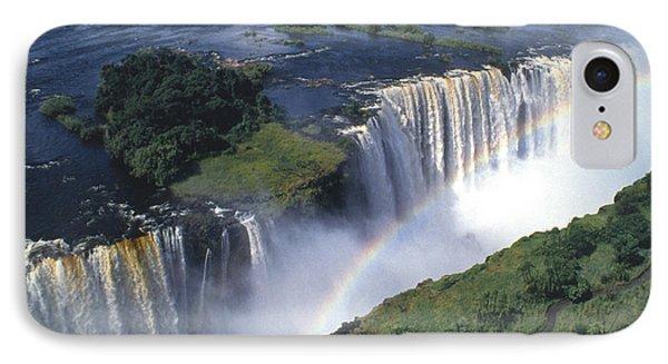 Victoria Falls Rainbow IPhone Case by Sandra Bronstein