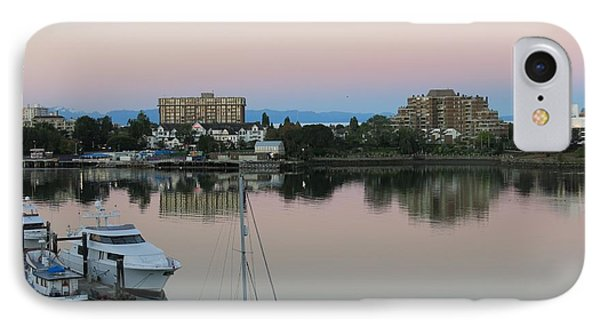 Victoria Harbor Dawn IPhone Case by Betty Buller Whitehead