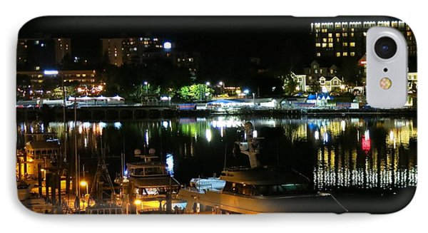 Victoria Inner Harbor At Night IPhone Case by Betty Buller Whitehead