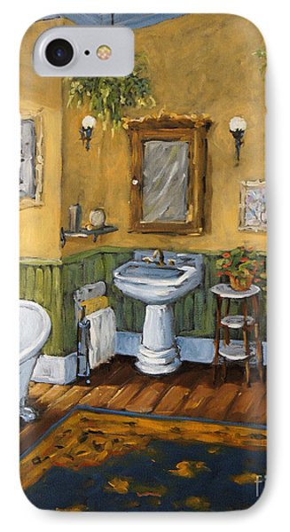 Victorian Bathroom By Prankearts IPhone Case by Richard T Pranke