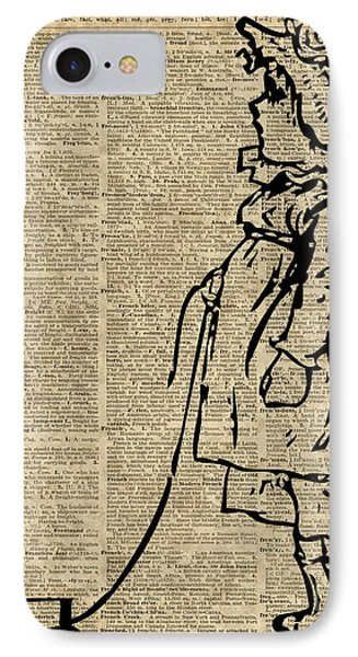 Victorian Child On A Dictionary Page IPhone Case by Jacob Kuch