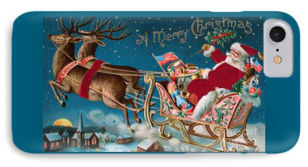 Victorian Christmas Card IPhone Case by American School