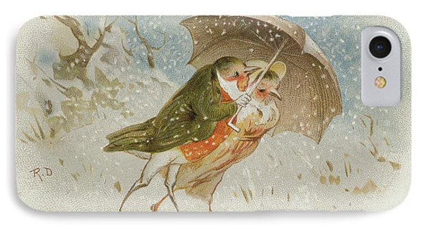 Victorian Christmas Card IPhone Case by Robert Dudley