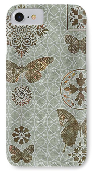 Victorian Deco Sage IPhone Case by JQ Licensing