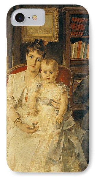 Victorian Family Scene Phone Case by Alfred Emile Stevens