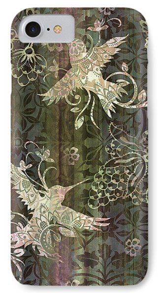Victorian Hummingbird Green Phone Case by JQ Licensing