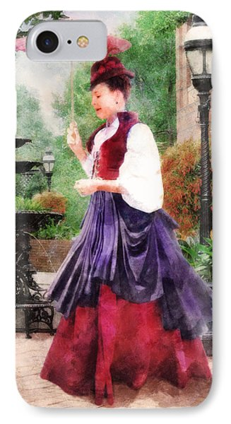 Victorian Lady IPhone Case by Francesa Miller