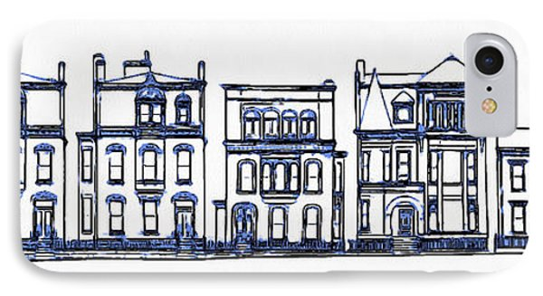 Victorian Row Houses IPhone Case