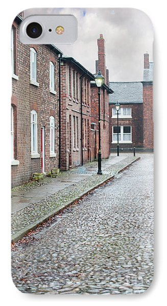 Victorian Terraced Street Of Working Class Red Brick Houses IPhone Case