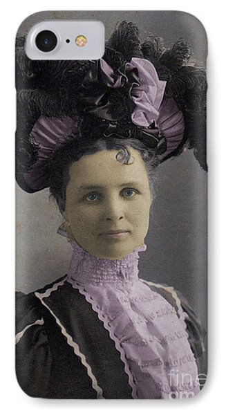 Victorian Women With Big Hat IPhone Case by Lyric Lucas