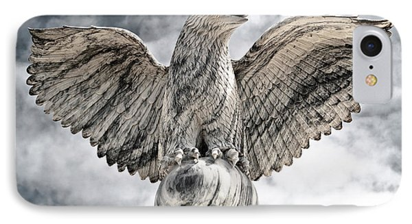 IPhone Case featuring the photograph Victorious Eagle Of Marble by Yurix Sardinelly