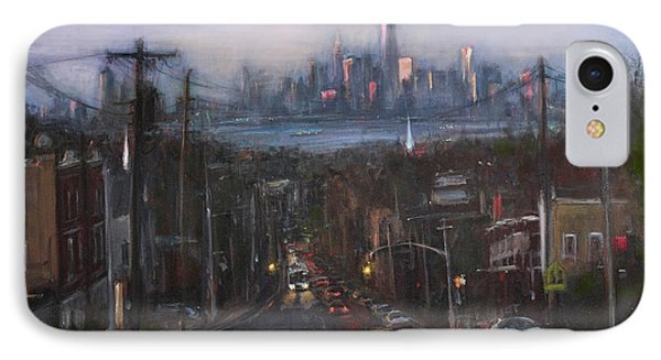 Victory Boulevard At Dusk IPhone Case by Sarah Yuster