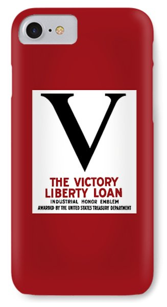 Victory Liberty Loan Industrial Honor Emblem Phone Case by War Is Hell Store