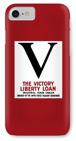 Victory Liberty Loan Industrial Honor Emblem IPhone Case