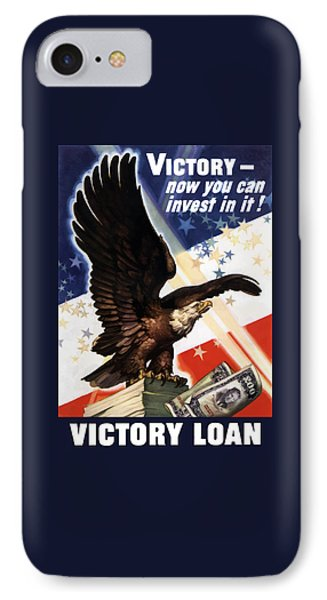 Victory Loan Bald Eagle Phone Case by War Is Hell Store