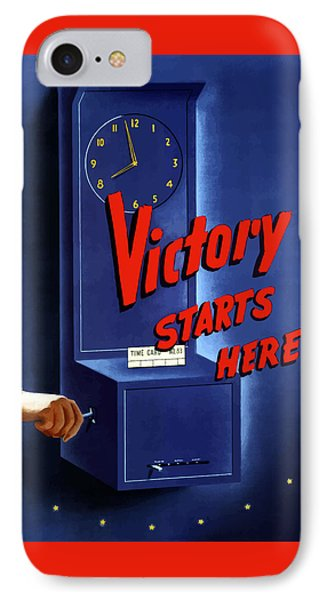 Victory Starts Here Phone Case by War Is Hell Store
