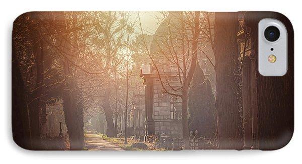 Vienna Zentralfriedhof In Winter  IPhone Case