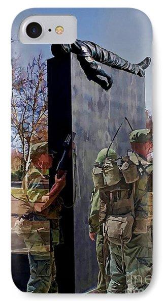 Vietnam Veterans Memories - In Oil IPhone Case by Tommy Anderson