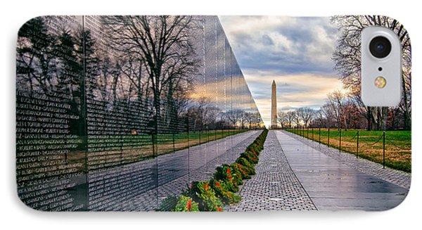 Vietnam War Memorial, Washington, Dc, Usa IPhone Case