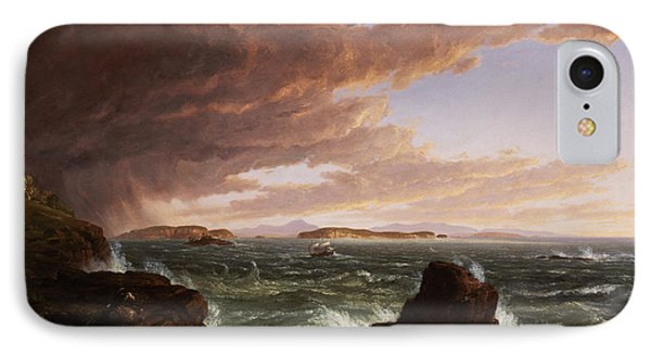 View Across Frenchman's Bay From Mt. Desert Island After A Squall Phone Case by Thomas Cole