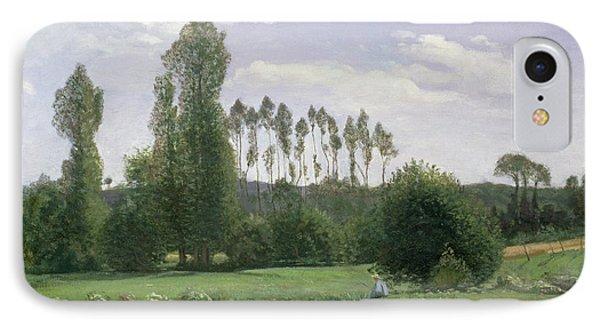 View At Rouelles IPhone Case by Claude Monet