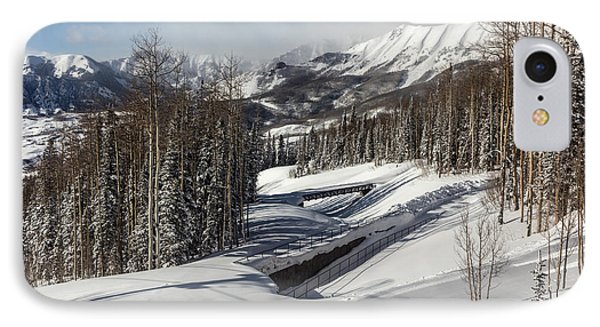 IPhone Case featuring the photograph View From A Mountain Above Telluride In Colorado by Carol M Highsmith