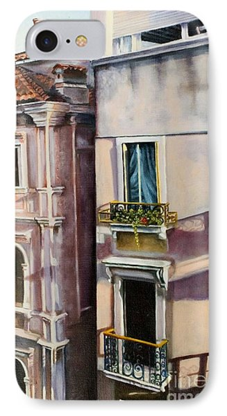 IPhone Case featuring the painting View From A Venetian Window by Marlene Book