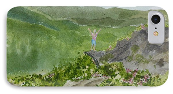 IPhone Case featuring the painting View From Craggy Gardens - A Watercolor Sketch  by Joel Deutsch