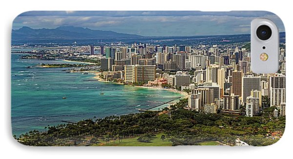 View From Diamond Head Phone Case by Jon Burch Photography