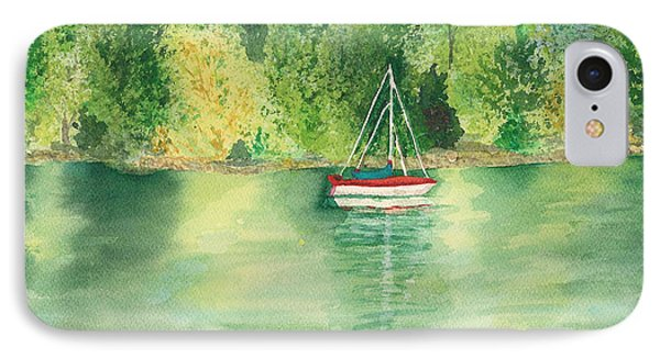 IPhone Case featuring the painting View From Millbay Ferry by Vicki  Housel