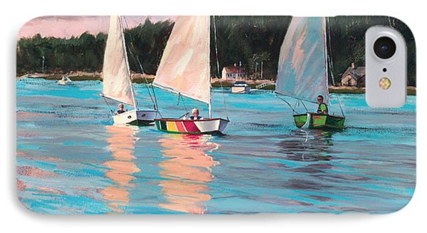 View From Rich's Boat IPhone Case by Laura Lee Zanghetti