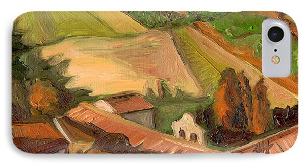View From San Gimignano II IPhone Case by Jennie Traill Schaeffer