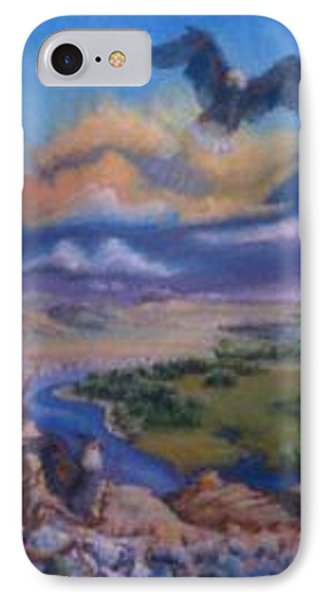 IPhone Case featuring the painting View From Sheep Rock by Dawn Senior-Trask