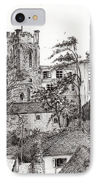 View From St Catherines School Ventnor IPhone Case by Vincent Alexander Booth