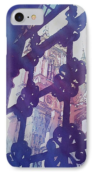 View From The Cloister IPhone Case by Jenny Armitage