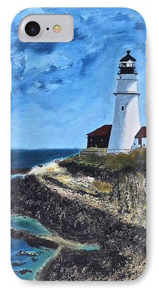 View From The North Portland Head Light IPhone Case